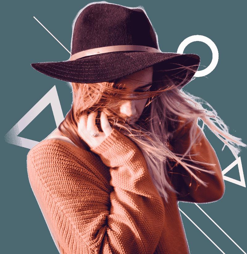 Creazione sito web per negozi abbigliamento ragazza cappello Italy wm