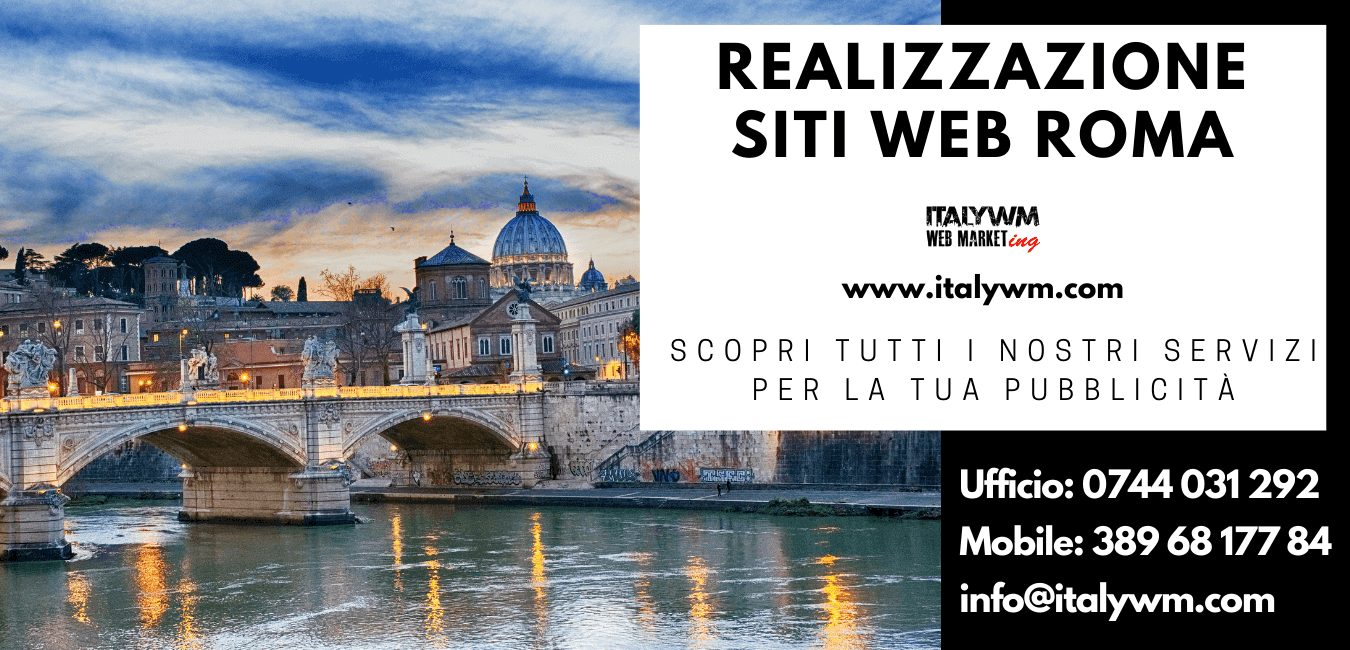 Realizzazione siti web Roma Viterbo Lazio Terni