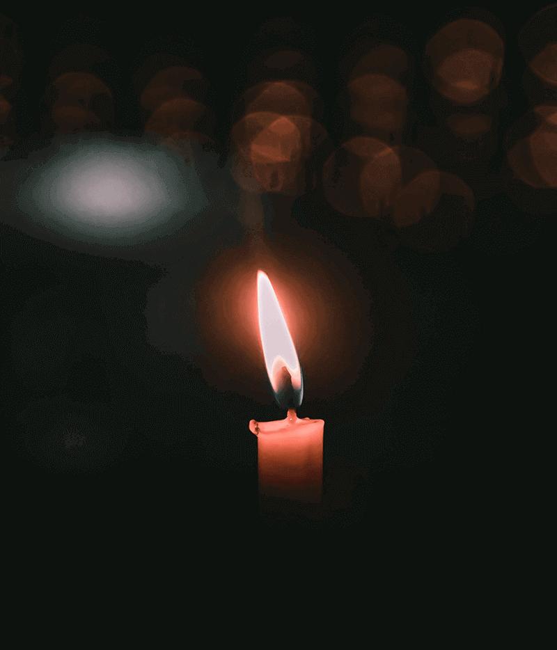 candela per onoranze funebri
